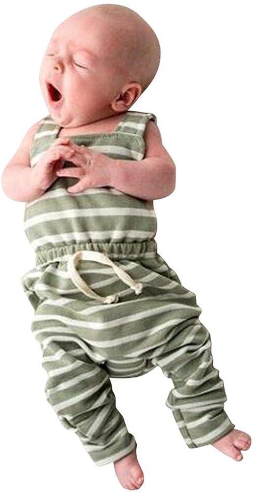 Carters Baby Boys 1-Pc Sleeveless Romper Shorts Green//Camo
