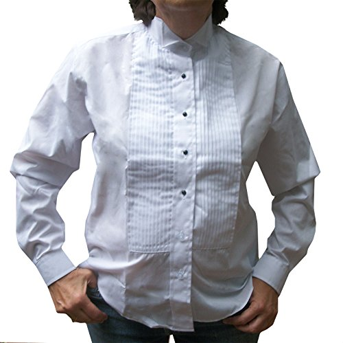Broadway Tuxmakers Women's Wing Collar, Large Pleats Tuxedo Shirt (14) White from Broadway Tuxmakers