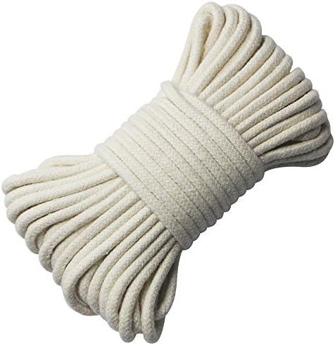 EDGEAM Cordón de Algodón 4mm Cuerda Trenzada Decoración DIY Artesanías blanco crudo (10 metros): Amazon.es: Hogar