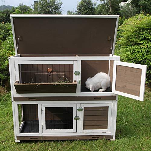 GUTINNEEN Outdoor Rabbit Hutch Indoor Bunny Hutch
