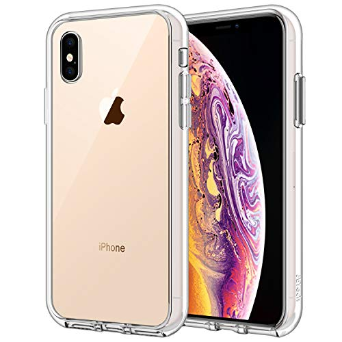 JETech Funda para Apple iPhone XS y iPhone X, Carcasa Bumper, Shock-Absorción y Anti-Arañazos (HD Clara)