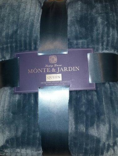 Monte & Jardin Jacquard Velvet Blanket, Cape Cod. Queen