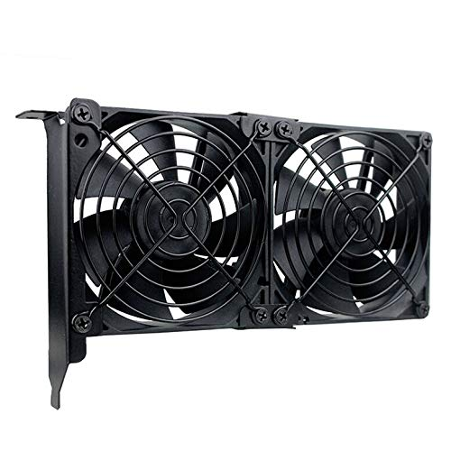 GDSTIME Graphic Card Fans, Graphics Card Cooler, Video Card Cooler, PCI Slot Dual 90mm 92mm Fans, VGA Cooler