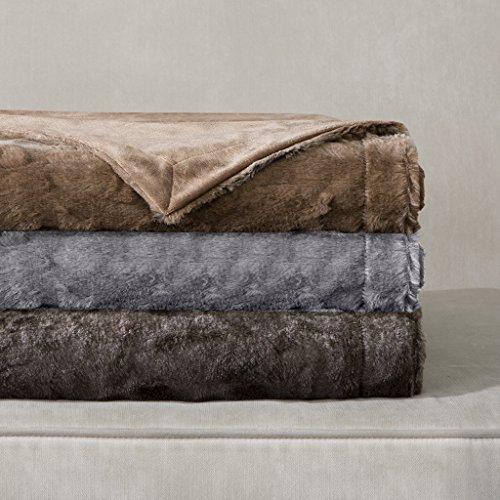 Gray Marselle Faux Fur Throw (60u0022x70u0022)