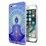 for iPhone 7 iPhone 8 Case Clear Design Chakras Yoga for iPhone Case 4.7', Cocomong Protective Fexible Soft TPU Phone Cover for iPhone 7/8 Gifts for Girls Women Anti-Drop-Scratch Shockproof Bumper