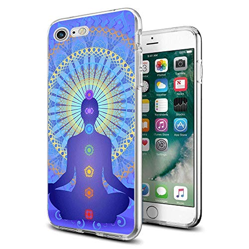 - for iPhone 7 iPhone 8 Case Clear Design Chakras Yoga for iPhone Case 4.7