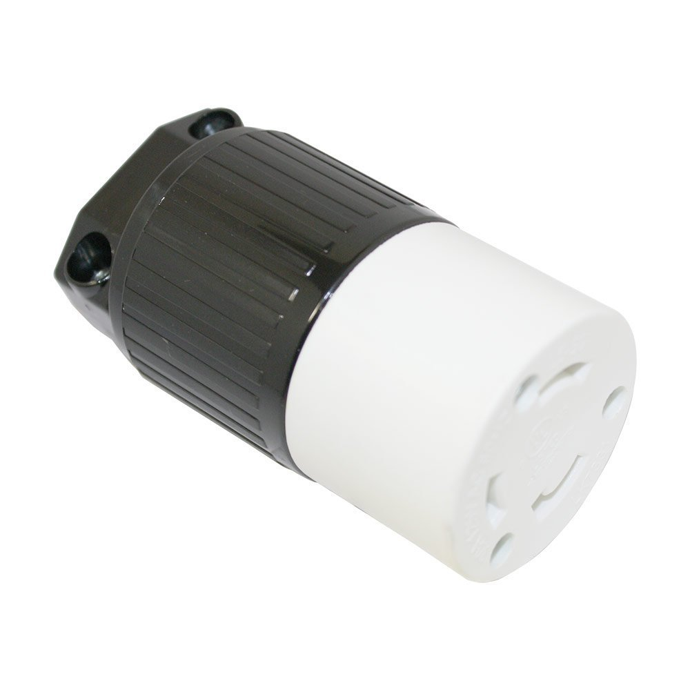 superior electric yga024f twist lock electrical receptacle 3 wire, 30 amps,  125v, nema