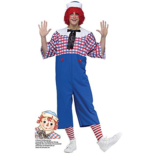 Raggedy Andy Costume - Standard - Chest Size -