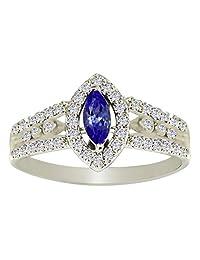 Banithani 925 Sterling Silver Amazing Tanzanite Gemstone Ring Fashion Women Jewelry