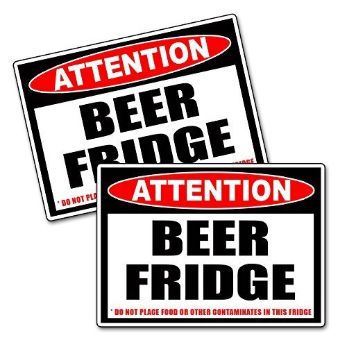 Beer Only Frig Refrigerator Vinyl Decal ()