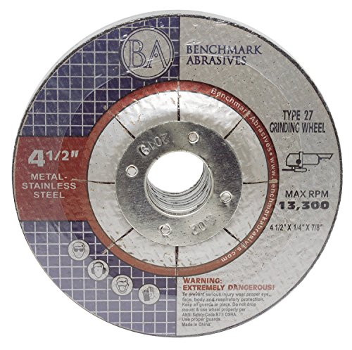 "BENCHMARK 4-1/2"" x 1/4"" x 7/8"" Metal Grinding Wheels - 15 Pack"