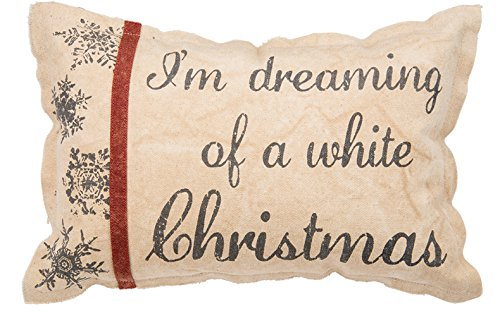 Primitives by Kathy Holiday White Christmas Cotton Throw Pil