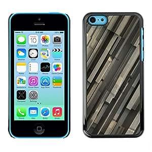 TopCaseStore / la caja del caucho duro de la cubierta de protección de la piel - Gray Pattern - Apple iPhone 5C