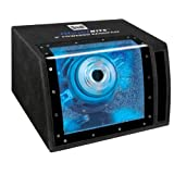 Dual Electronics SBP8A illumiNITE 8 inch Powered Enclosed Subwoofer with built in Amplifier