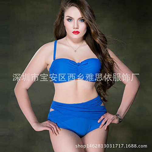Triangle fashion Taille Bain Bikini Split Plage Grande Femme Swimwear Maillot Trends Imprimés Bretelle Femme Bleu Bain Maillots À Sexy 50 De Femmes Gyps Splits 60ROqHO