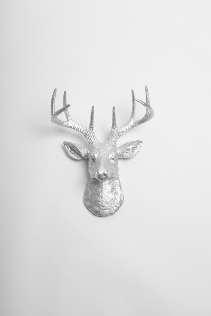 Amazon mini silver faux deer head wall mount the mini amazon mini silver faux deer head wall mount the mini hesher by white faux taxidermy miniature silver resin stag animal head wall mount with amipublicfo Choice Image
