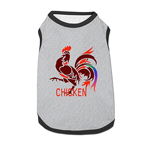 [Dog Clothes Chicken Dog Vest Apparel Beautiful Art Polyester Fiber Dog Jackets Designer Dog] (Chicken Nugget Costume)