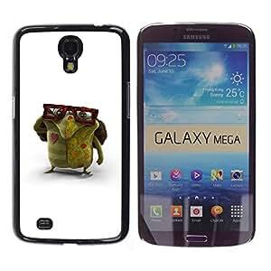 Planetar® ( Glasses Green Monster Love Creature Art ) Samsung Galaxy Mega 6.3 Fundas Cover Cubre Hard Case Cover
