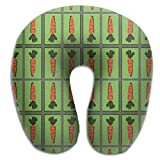 Mr.Roadman Unique U Shaped Neck Pillow Carrot Mirror Seamless Art Comfortable Soft Neck Support Pattern Pillow Rest,Travel,Car,Airplane,Bed,Sofa