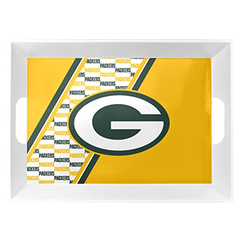 Duck House 1 Pc, Green Bay Packers Melamine Serving Tray 18x12x3 For Tailgate Party, Plastic BPA Free & Lead Free, Dishwasher Safe -