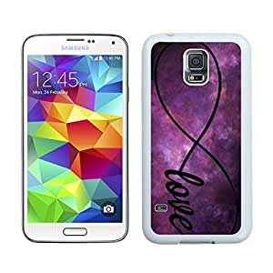 Best Samsung S5 Silicone Phone Case Infinity Love Galaxy White TPU Durable Cover