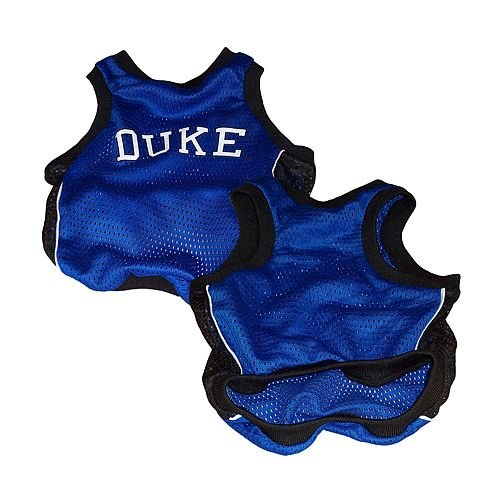 Sporty K9 Collegiate Duke Blue Devils Dog Basketball Jersey, X-Small