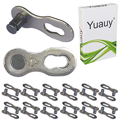Yuauy 12 Pair (24 pcs) 6, 7, 8 Speed Bike Bicycle Chain Link Reusable Quick Joint Clip Connector Miss -