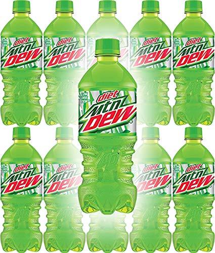 Diet Mountain Dew, 20oz Bottle (Pack of 10, Total of 200 Fl Oz)
