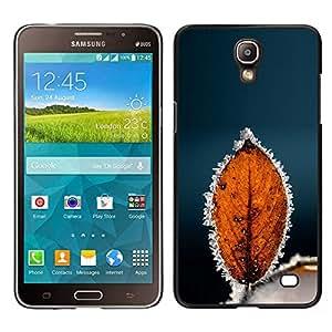 TopCaseStore / la caja del caucho duro de la cubierta de protección de la piel - Autumn Winter Frost Leaf - Samsung Galaxy Mega 2