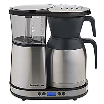 Image of Bonavita 8-Cup One-Touch Coffee Maker Featuring Programmable Setting and Thermal Carafe, BV1900TD Home and Kitchen