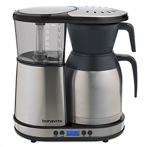 Bonavita 8-Cup One-Touch Coffee Maker Featuring Programmable Setting and Thermal Carafe, BV1900TD 8 Cup Programmable Thermal