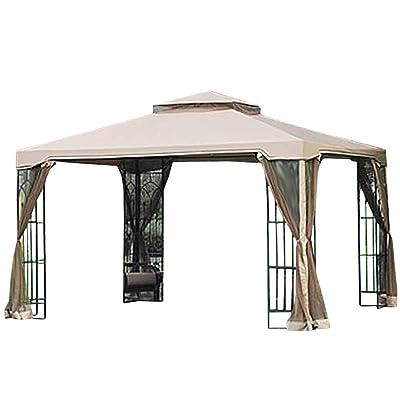 Garden Winds 10 x 12 Arrow Gazebo Replacement Canopy Top Cover and Netting - RipLock 350 : Garden & Outdoor