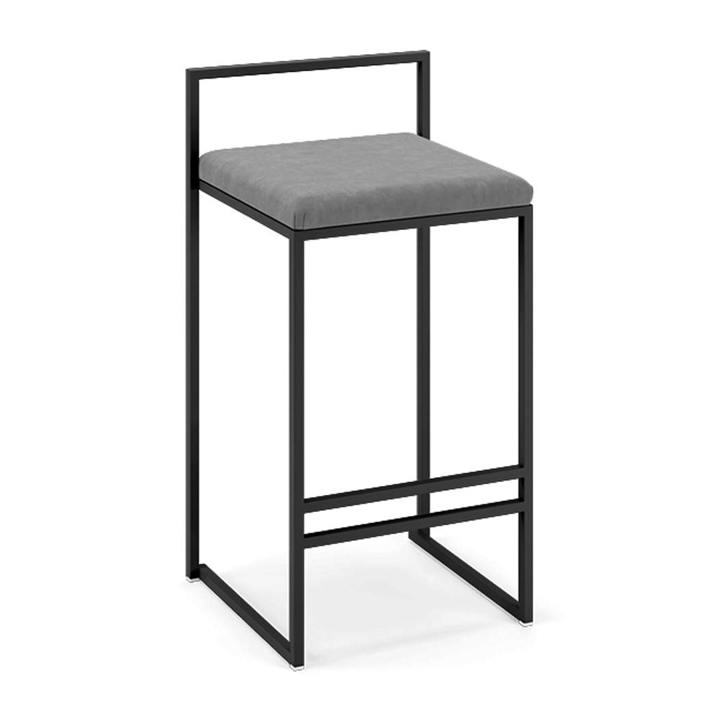 Sitting 50cm Fashion Wrought Iron Metal Bracket Bar Stool Kitchen Breakfast Stool Chair Cushion Design (Sitting Height  50 60 70 80 cm)