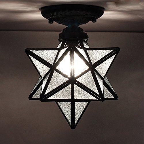 LUMINTURS Luxury 8inch(8'') 7W LED Ceiling Fixture Lamp E27 Bulb Diamond L...