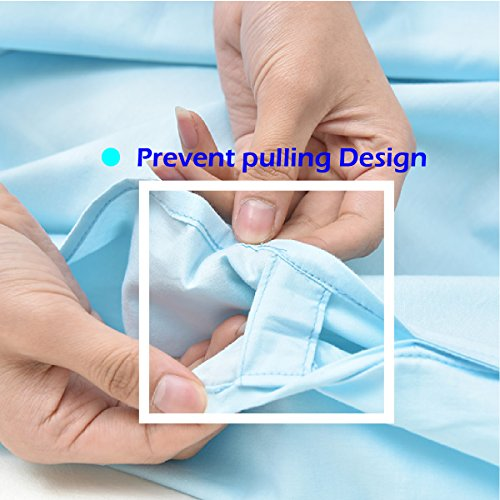 Hiking Travel Envelope Camping Cotton Liner Blue Lightweight Deep Bag Single Hotel Portable Adult Sleeping 2 for Azarxis Person Sack Double Sheet Two q6HtEfw