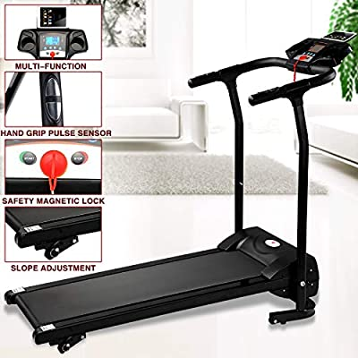 Fitnessclub 2HP Folding Treadmill Electric Motorized Power 12KM/H Running Fitness Machine W/PAD Holder?Hand Grip Pulse Sensor