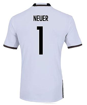 8488fa82c Amazon.com  adidas Neuer  1 Germany Home Soccer Jersey Euro 2016 Youth.  (YL) White  Clothing