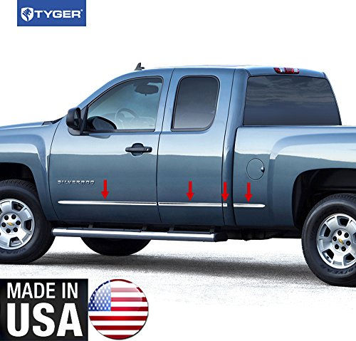 Made In USA! 07-13 Chevy Silverado/GMC Sierra Extended Cab Long Bed Body Side Molding Trim 1.5