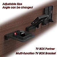 ETbotu Foldable Mount Bracket for Android TV Box Set Top Box Stand Holder Racks Wall Mounts Storage Single Space Shelf