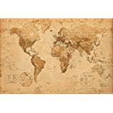 AMBROSIANA GB eye LTD, Mappa del Mondo, Antique Style, Maxi Poster, 61 x 91,5 cm