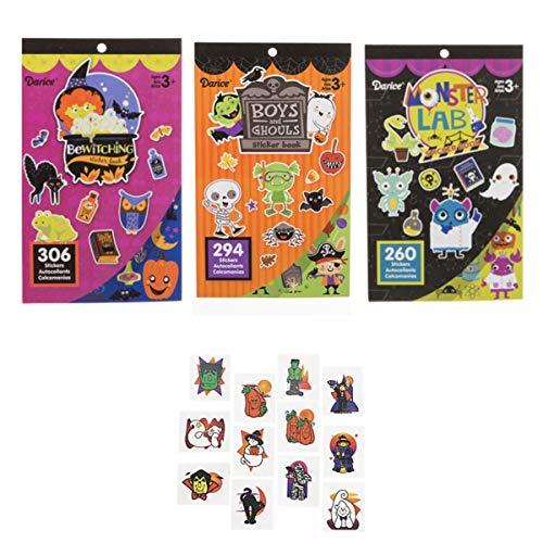 860 Halloween Stickers & 144 Tattoos - Party Favors Classroom Teacher School Supplies Ghost Monster Witch Pumpkin Arts Crafts ()