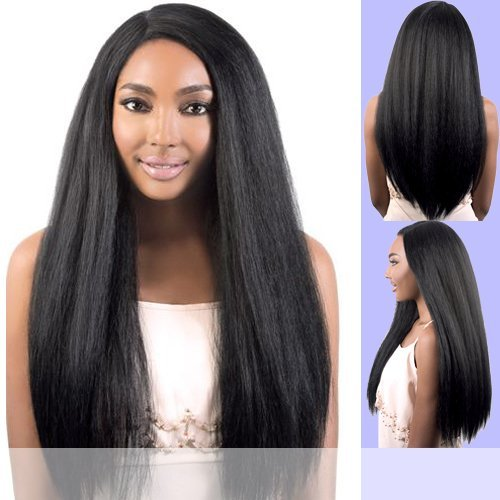 - Motown Tress (Lxp. Lion) - Heat Resistant Fiber Lace Part Wig in OFF BLACK