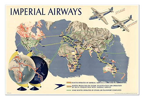 imperial-airways-travel-print-map-of-the-world-circa-1937-measures-36-wide-x-24-high-915mm-wide-x-61