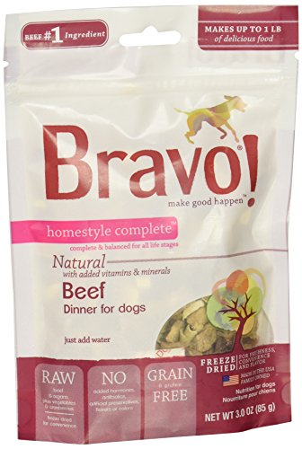 (Bravo Homestyle Freeze Dried Dinner Beef Food, 3 oz.)