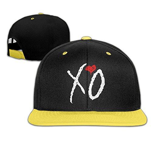 WYUZHEN Kid's XO The WEEKND Hip-hop Snapback Hat Caps Yellow