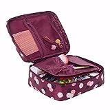 NszzJixo9 Travel Cosmetic Makeup Toiletry Case Bag Wash Organizer Storage Pouch Handbag Toiletry Bg Wash Bag Comestic Bag Travel Bag (Red)