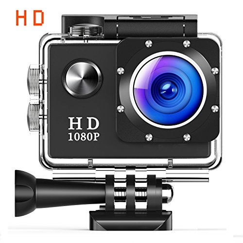 Action Camera Underwater Cam WiFi 1080P Full HD 12MP Waterproof 30m 2'' LCD 140 degree Wide-angle Sports Camera with 2 Rechargeable 1050mAh Batteries and Mounting Accessory Kits by NANISH