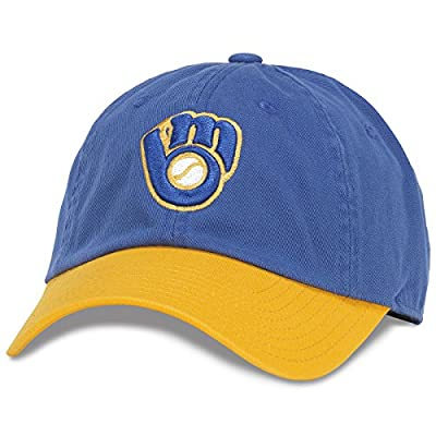 "American Needle MLB ""Bleacher Seat"" Cotton Twill Adjustable Crew Hat Cap"