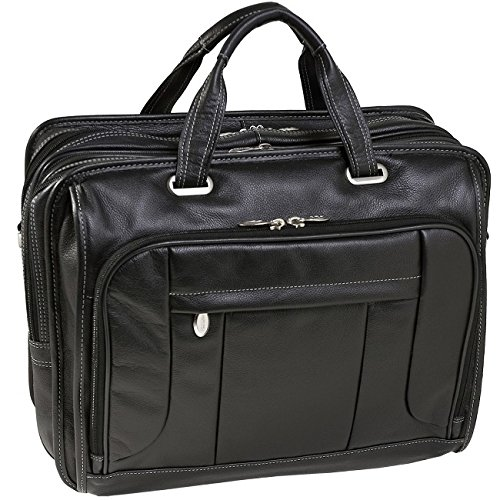 McKleinUSA RIVER WEST 15715 Black Fly-Through Checkpoint-Friendly 17 Laptop Case