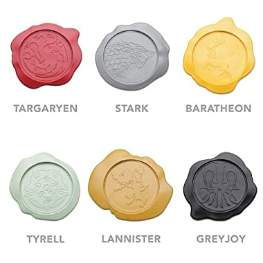 Game of Thrones Set of 6 Wax Seal House Sigil Coasters